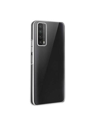 Microsonic Huawei P Smart 2021 Kılıf Transparent Soft Beyaz Beyaz